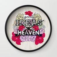 Good Ideas Go To Heaven Wall Clock