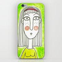 Green Girl iPhone & iPod Skin