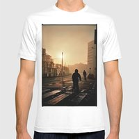 Foggy City Mens Fitted Tee White SMALL