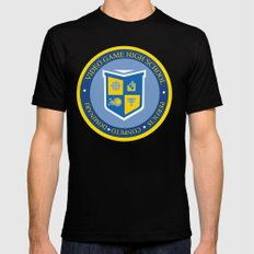 THE CREST of video game high school  Black Mens Fitted Tee SMALL