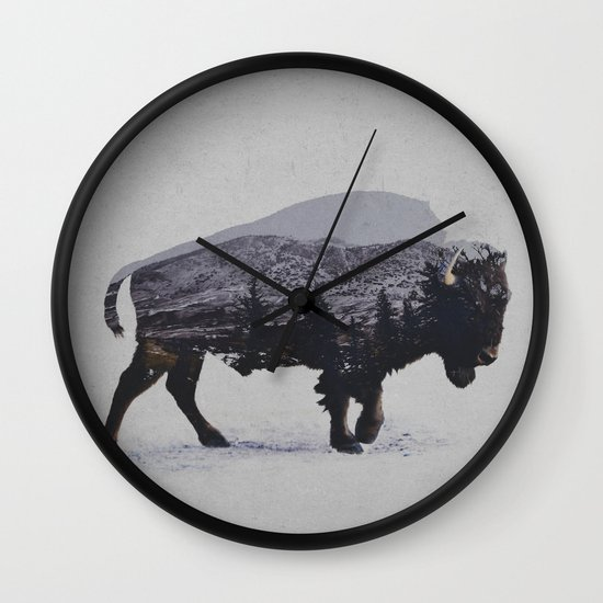 The American Bison Wall Clock