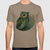 Green Owl Mens Fitted Tee Tri-Coffee SMALL