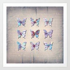 butterfly collection usa o6 Art Print