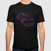 Classic Galactica 3D Mens Fitted Tee Tri-Black SMALL