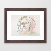 One Line B.Marley Framed Art Print