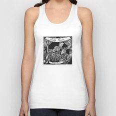 Luddy Mussy/ bull goose looney album cover black and white Unisex Tank Top