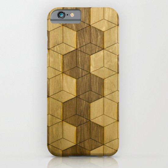 Wooden Zig Zag Optical Cubes iPhone & iPod Case
