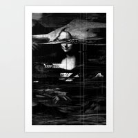 Mona Lisa Glitch Art Print