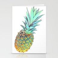 Quadri Tropical Pineappl… Stationery Cards