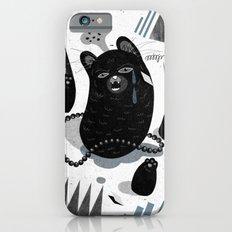 Cat in snow iPhone 6 Slim Case