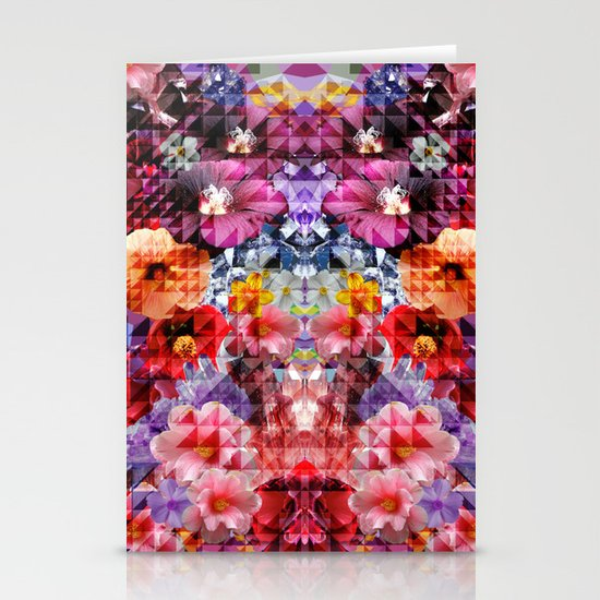 Crystal Floral Stationery Card