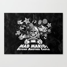 Mad Mario: Beyond Another Castle Canvas Print