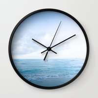 Calm Day Ver.blue Wall Clock