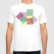 concert des formes White Mens Fitted Tee SMALL