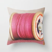 M Is For Magenta Throw Pillow