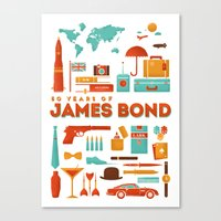 James Bond 50 Years  Canvas Print