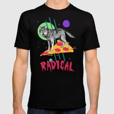 So Radical SMALL Black Mens Fitted Tee
