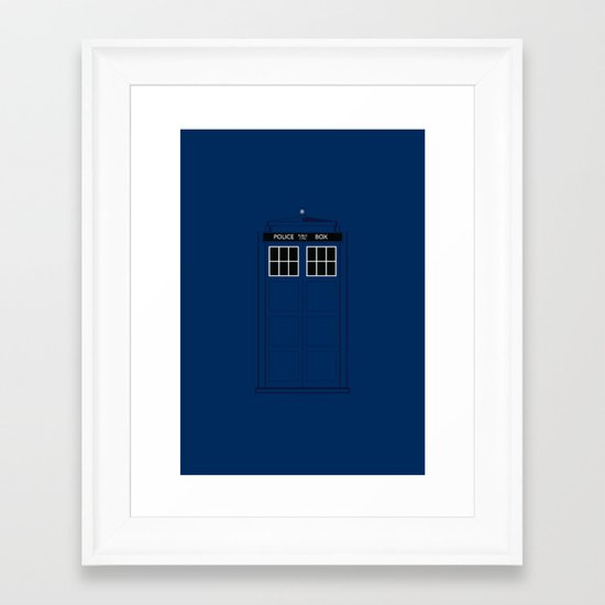 Doctor Who - The Doctor is in.....  Framed Art Print