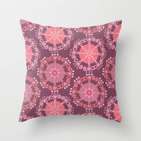 Retro Plum Throw Pillow