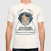 Odin - Odinsleep Mattres… Mens Fitted Tee Natural SMALL