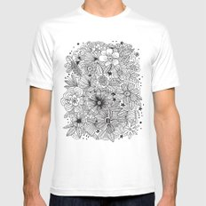 MOSTLY HARMLESS Mens Fitted Tee SMALL White
