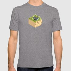MS-05 Mens Fitted Tee Tri-Grey SMALL