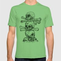 Skull Totem Mens Fitted Tee Grass SMALL