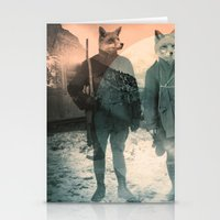 fox Stationery Cards featuring Fox Hunt by Chase Kunz