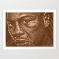 round 9..lenox lewis Art Print