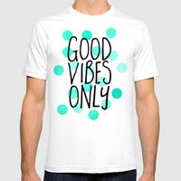 Good Vibes Only Mens Fitted Tee White SMALL