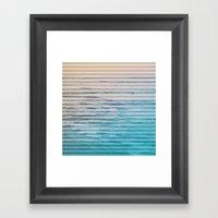 Sunrise Ocean Stripes Framed Art Print
