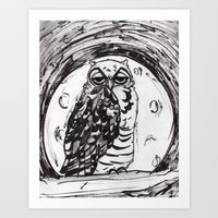 Night Owl v.1 Art Print
