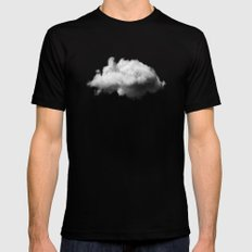 WAITING MAGRITTE Mens Fitted Tee Black SMALL