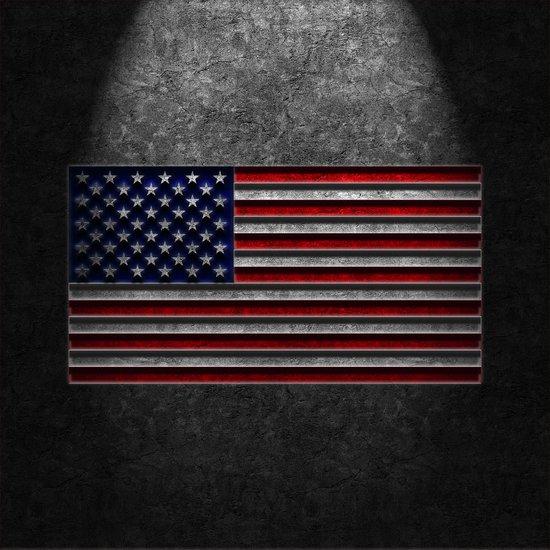 American Flag Stone Texture Art Print