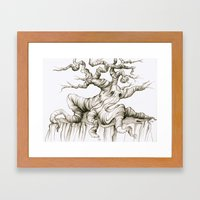 Sad Sad Tree Framed Art Print