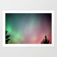 Jupiter and the Aurora (4) Art Print