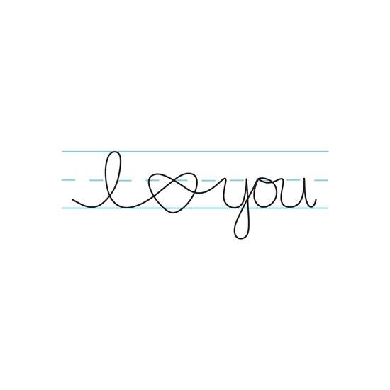 i heart ( love ) you Art Print