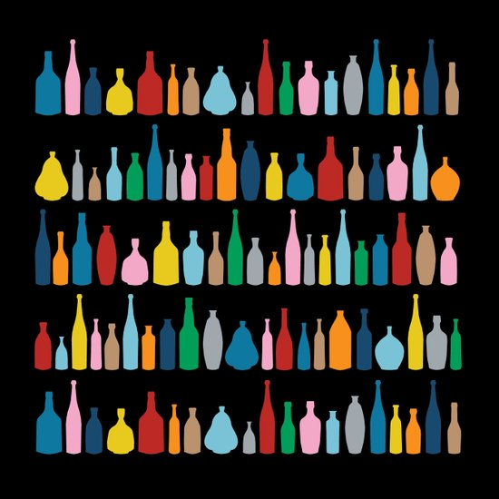 Black Bottle Multi Art Print