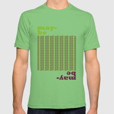 May-be Mens Fitted Tee Grass SMALL