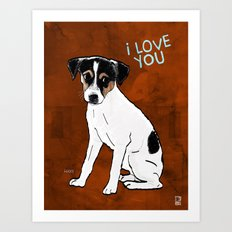 Dog: Rat Terrier Art Print