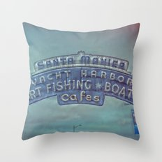 Santa Monica Pier Throw Pillow