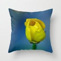 Budding Buttercup  Throw Pillow