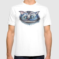 Cheshire Cat Grin - Alice in Wonderland Mens Fitted Tee White SMALL