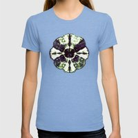 Eggplant Bloom Womens Fitted Tee Tri-Blue SMALL