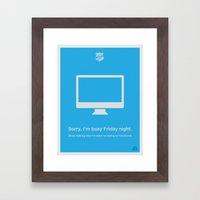 Friday Night Framed Art Print