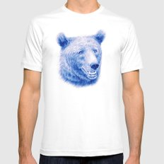Brown bear is blue White Mens Fitted Tee SMALL