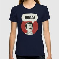AAAA! Womens Fitted Tee Navy SMALL
