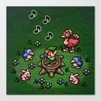 Flute Boy Canvas Print
