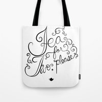 tea for two, please Tote Bag