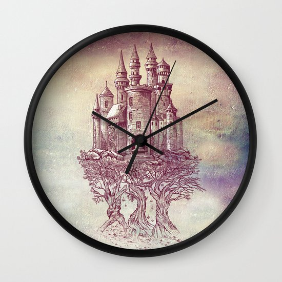 Castle in the Trees Wall Clock